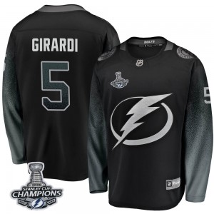 Tampa Bay Lightning Dan Girardi Official Black Fanatics Branded Breakaway Youth Alternate 2020 Stanley Cup Champions NHL Hockey
