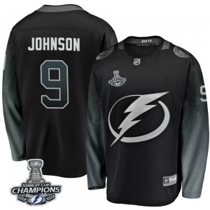 Tampa Bay Lightning Tyler Johnson Official Black Fanatics Branded Breakaway Youth Alternate 2020 Stanley Cup Champions NHL Hocke