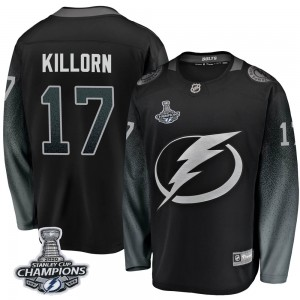 Tampa Bay Lightning Alex Killorn Official Black Fanatics Branded Breakaway Youth Alternate 2020 Stanley Cup Champions NHL Hockey
