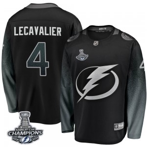 Tampa Bay Lightning Vincent Lecavalier Official Black Fanatics Branded Breakaway Youth Alternate 2020 Stanley Cup Champions NHL