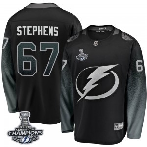 Tampa Bay Lightning Mitchell Stephens Official Black Fanatics Branded Breakaway Youth Alternate 2020 Stanley Cup Champions NHL H