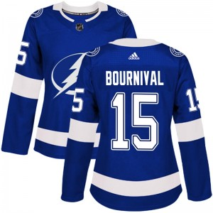 Tampa Bay Lightning Michael Bournival Official Blue Adidas Authentic Women's Home NHL Hockey Jersey