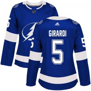 Tampa Bay Lightning Dan Girardi Official Blue Adidas Authentic Women's Home NHL Hockey Jersey