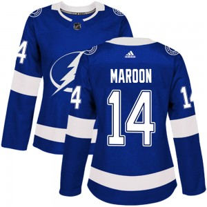 Tampa Bay Lightning Patrick Maroon Official Blue Adidas Authentic Women's Home NHL Hockey Jersey