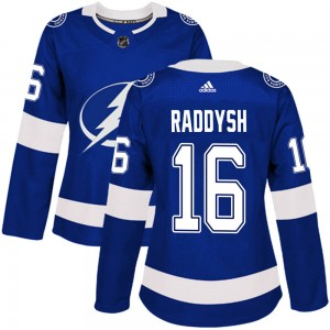 Tampa Bay Lightning Taylor Raddysh Official Blue Adidas Authentic Women's Home NHL Hockey Jersey