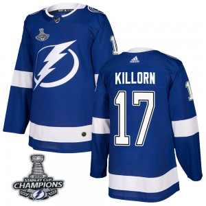 Tampa Bay Lightning Alex Killorn Official Blue Adidas Authentic Adult Home 2020 Stanley Cup Champions NHL Hockey Jersey
