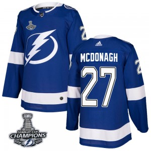 Tampa Bay Lightning Ryan McDonagh Official Blue Adidas Authentic Adult Home 2020 Stanley Cup Champions NHL Hockey Jersey