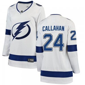 Tampa Bay Lightning Ryan Callahan Official White Fanatics Branded Breakaway Women's Away NHL Hockey Jersey