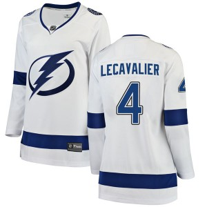 Tampa Bay Lightning Vincent Lecavalier Official White Fanatics Branded Breakaway Women's Away NHL Hockey Jersey
