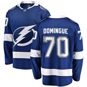 Tampa Bay Lightning Louis Domingue Official Blue Fanatics Branded Breakaway Youth Home NHL Hockey Jersey