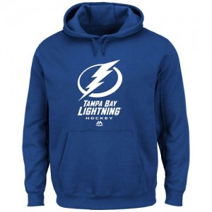 Tampa Bay Lightning Official Royal Blue Majestic Adult Critical Victory VIII Fleece Hoodie -