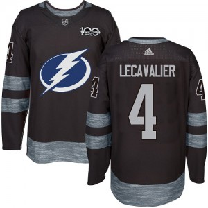 Tampa Bay Lightning Vincent Lecavalier Official Black Adidas Authentic Adult 1917-2017 100th Anniversary NHL Hockey Jersey