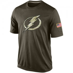 Tampa Bay Lightning Official Olive Nike Adult Salute To Service KO Performance Dri-FIT T-Shirt