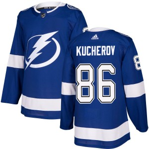 Tampa Bay Lightning Nikita Kucherov Official Blue Adidas Authentic Adult NHL Hockey Jersey