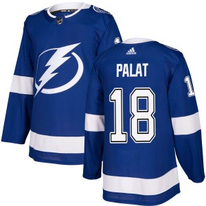 Tampa Bay Lightning Ondrej Palat Official Blue Adidas Authentic Adult NHL Hockey Jersey