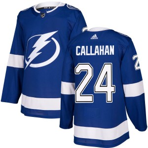 Tampa Bay Lightning Ryan Callahan Official Blue Adidas Authentic Adult NHL Hockey Jersey
