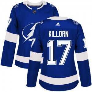 Tampa Bay Lightning Alex Killorn Official Royal Blue Adidas Authentic Women's Home NHL Hockey Jersey