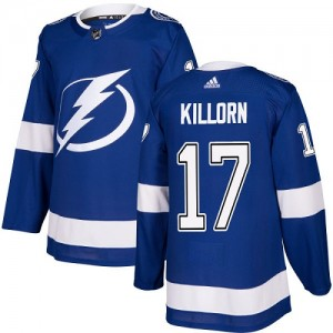 Tampa Bay Lightning Alex Killorn Official Royal Blue Adidas Authentic Youth Home NHL Hockey Jersey