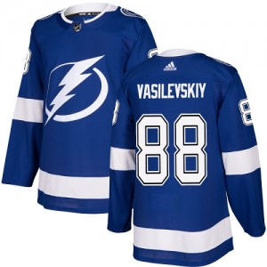 Tampa Bay Lightning Andrei Vasilevskiy Official Royal Blue Adidas Authentic Youth Home NHL Hockey Jersey