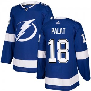 Tampa Bay Lightning Ondrej Palat Official Royal Blue Adidas Authentic Youth Home NHL Hockey Jersey