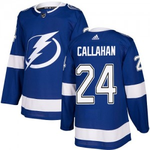 Tampa Bay Lightning Ryan Callahan Official Royal Blue Adidas Authentic Youth Home NHL Hockey Jersey