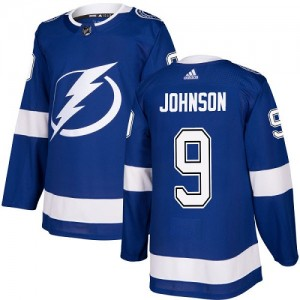Tampa Bay Lightning Tyler Johnson Official Royal Blue Adidas Authentic Youth Home NHL Hockey Jersey