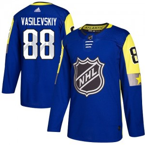 Tampa Bay Lightning Andrei Vasilevskiy Official Royal Blue Adidas Authentic Adult 2018 All-Star Atlantic Division NHL Hockey Jer