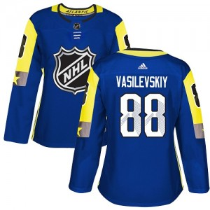 Tampa Bay Lightning Andrei Vasilevskiy Official Royal Blue Adidas Authentic Women's 2018 All-Star Atlantic Division NHL Hockey J