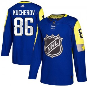 Tampa Bay Lightning Nikita Kucherov Official Royal Blue Adidas Authentic Youth 2018 All-Star Atlantic Division NHL Hockey Jersey
