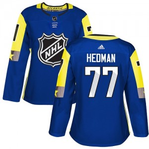 Tampa Bay Lightning Victor Hedman Official Royal Blue Adidas Authentic Women's 2018 All-Star Atlantic Division NHL Hockey Jersey