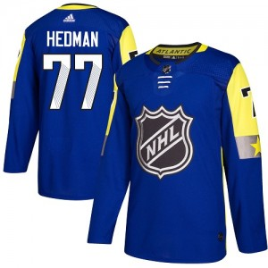 Tampa Bay Lightning Victor Hedman Official Royal Blue Adidas Authentic Youth 2018 All-Star Atlantic Division NHL Hockey Jersey