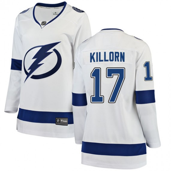 Tampa Bay Lightning Official White Fanatics Branded Breakaway ... 75489a87e