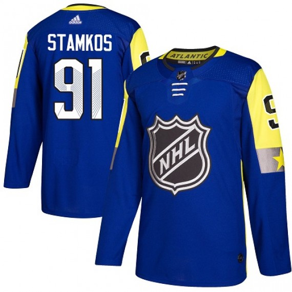 Tampa Bay Lightning Steven Stamkos Official Royal Blue Adidas Authentic Youth 2018 All-Star Atlantic Division NHL Hockey Jersey